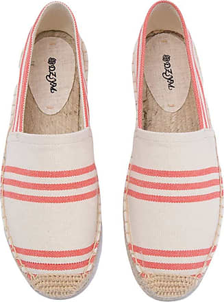 ICEGREY Womens Causal Loafer Flat Slip On Espadrille Red White Strips 2 UK 3.5