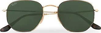 Ray-Ban 0RB3548N Hexagonal Sunglasses Gold/Green