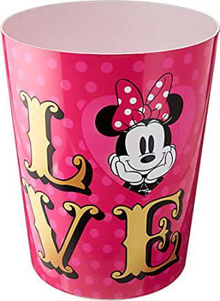 Disney Minnie Mouse XOXO Pink/Gold/White Waste Basket