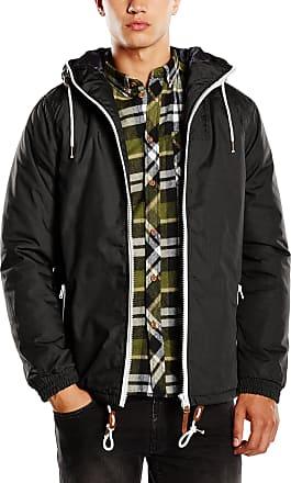 Solid Spunk Mens Blouson Jacket - Black - Large