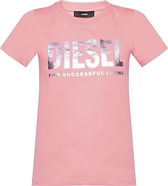Diesel T-shirt With Logo Womens Pink