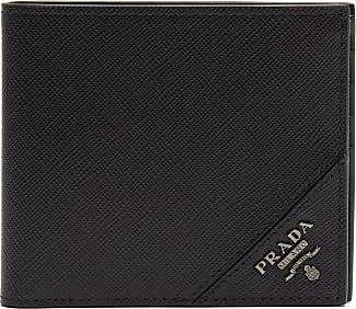 Prada Bi-fold Saffiano-leather Wallet - Mens - Black