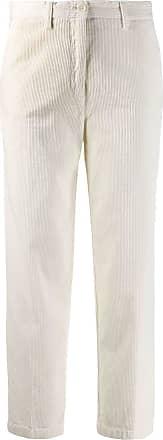 Aspesi Calça cropped de veludo cotelê - Branco