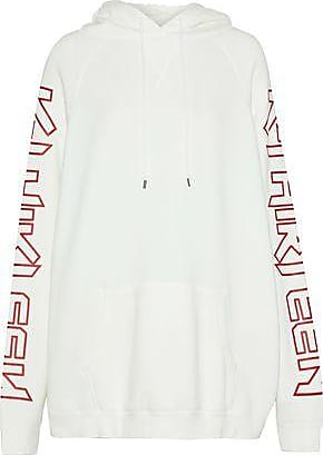 R13 Woman Oversized Printed Cotton-blend Terry Hoodie White Size S