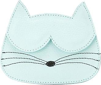 Sarah Chofakian Porta-cartões Gato de couro - Azul