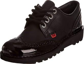 Kickers Kick Lo Brogue Womens Oxford Lace-up Shoes, Black, 7 UK (41 EU)