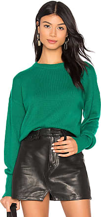 Theory Drop Shoulder Crew Neck Sweater in Green