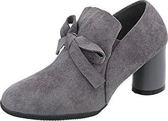 16a5e4834836a8 Ital-Design Ankle Boots Damen-Schuhe Ankle Boots Pump Moderne Stiefeletten  Grau