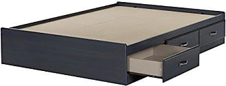South Shore Furniture Ulysses Mates Bed with 3 Drawers, Full 54-inch, Blueberry