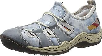 Rieker Womens L0561-12 Low-Top Sneakers, Blue (Adria/Heaven/Silverflower 12), 41 EU 7.5 UK