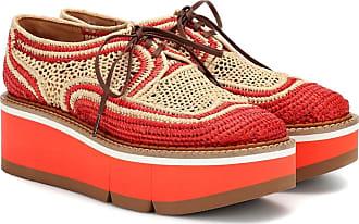 Robert Clergerie Acajou raffia platform oxford shoes