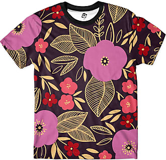 BSC Camiseta BSC Floral Full Print Roxo