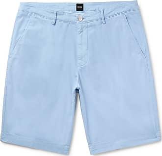 883eef83 HUGO BOSS Slim-fit Stretch-cotton Shorts - Blue