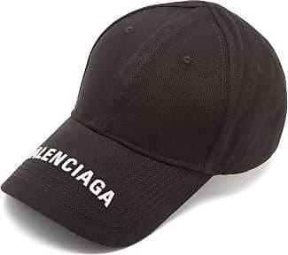 Balenciaga Logo-embroidered Cotton-twill Baseball Cap - Mens - Black White