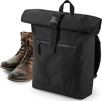BagBase BG855=Bagbase Roll-Top Backpack Colour=Black Size=O/S