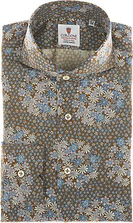 Cordone 1956 Camicia sartoriale Mod. Taormina - Tessuto cotone - popeline - Colore marrone - Taglia 36