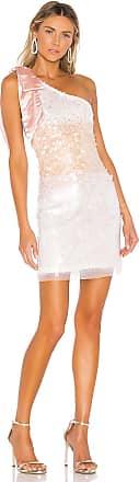 Parker Rowan Combo Dress in White