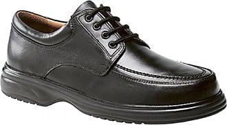 Roamers Mens Black Leather Fulfit Mudguard Tie Shoe, Black, 7 UK