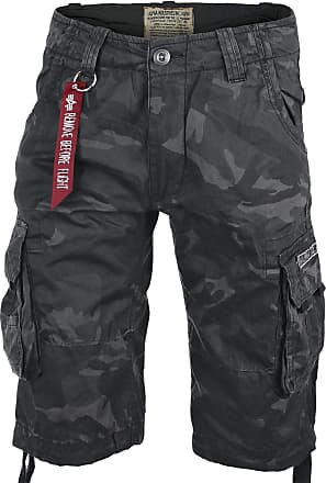 Alpha Industries Jet Shorts black camo, Größe 29