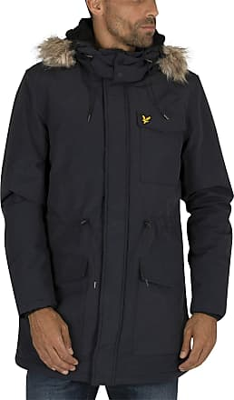 Lyle & Scott Lyle and Scott Men Winterweight Microfleece Lined Parka - XXL Dark Navy