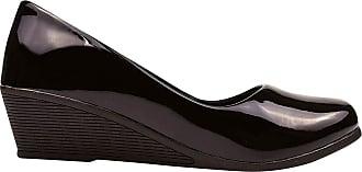 Eleganteria Sapato Scarpin Verniz Anabela Salto Médio Eleganteria Tamanho:38;Cor:Preto