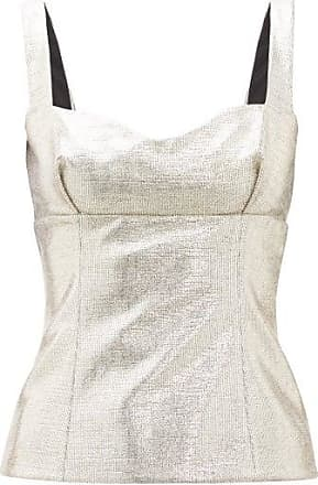 Emilia Wickstead Madeline Sweetheart-neck Lamé Top - Womens - Gold