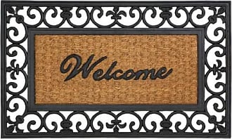 Zingz & Thingz Zingz and Thingz Fleur-De-Lis Framed Entry Mat