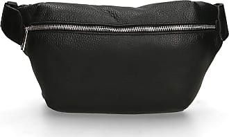 Chicca Borse Pouch Bag in genuine leather made in Italy - 16x27x6 Cm