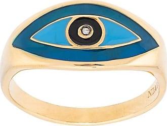 Nialaya evil eye ring - GOLD