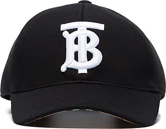 Burberry Boné com logo bordado - Preto