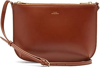 A.P.C. Sarah Smooth-leather Cross-body Bag - Womens - Tan
