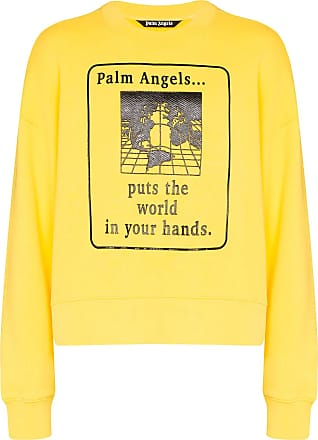 Palm Angels Yellow oversized World in Hands sweatshirt