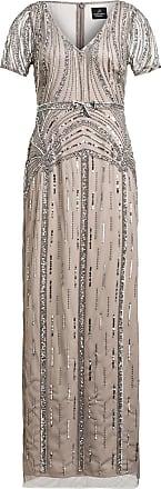 Adrianna Papell Abendkleid mit Paillettenbesatz - GRAU