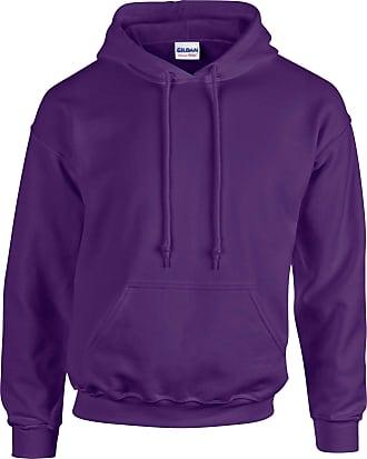 Undercover Gildan Hooded Sweatshirt Heavy Blend Plain Hoodie Pullover Hoody Purple 2XL