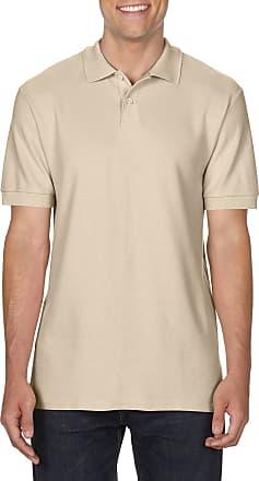 Gildan Mens 100% Ring Spun Cotton* Softstyle Double Pique Polo Shirt Top Sand Large