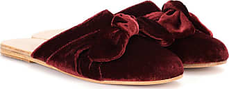 Ancient Greek Sandals Pasoumi bow velvet slippers