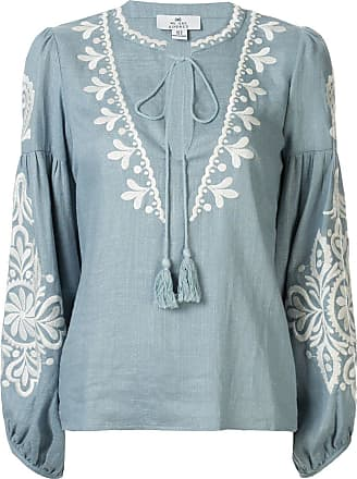 We Are Kindred Positano embroidered blouse - Blue