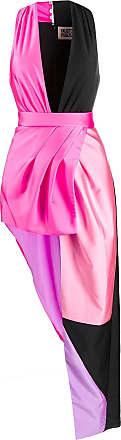 FAUSTO PUGLISI Vestido assimétrico color block - Rosa