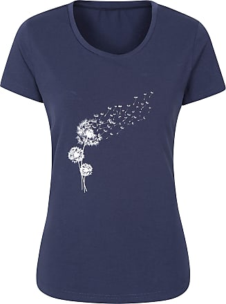 Breathable Summer Top Best for Travelling Lightweight Ladies T-Shirt Mountain Warehouse Happiness Womens Embroidered Tee Outdoors Quick Drying UV Protection