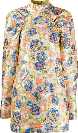 Rotate Vestido jacquard Kim - Amarelo