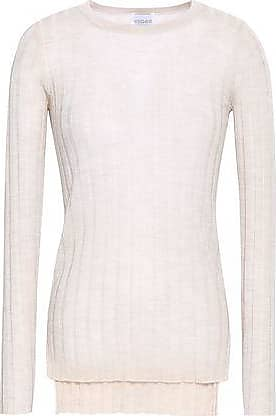 95f042f8774d Madeleine Thompson Madeleine Thompson Woman Ribbed Wool And Cashmere-blend  Top Beige Size S