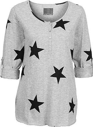 09ae5fdd791cc7 Bonprix Dames shirt lange mouw in grijs - RAINBOW