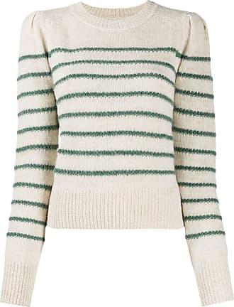 Isabel Marant Suéter decote careca de tricô com listras - Neutro