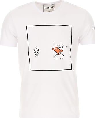 Iceberg T-Shirts für Herren, TShirts Günstig im Sale, Weiss, Baumwolle, 2019, L M S XL