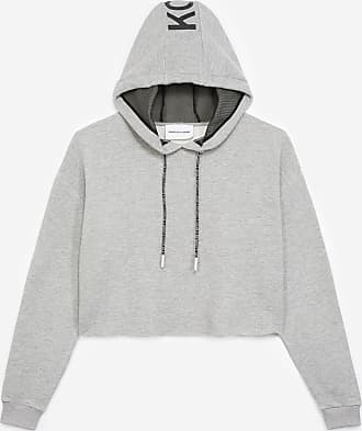 The Kooples Light grey sweatshirt with hood and logo - WOMEN