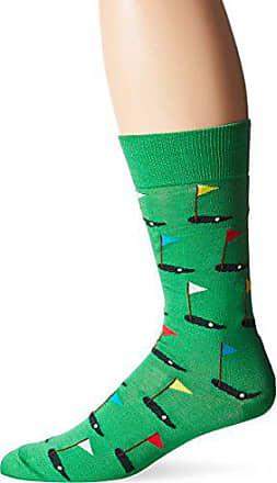 Hot Sox Mens Novelty Sporting Crew Socks, Golf (Green), Shoe Size: 6-12