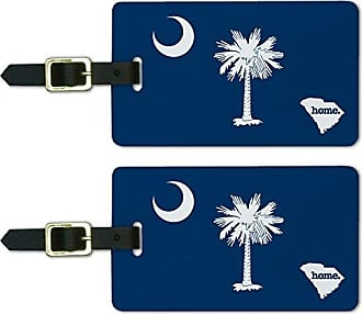 Graphics & More Graphics & More South Carolina Sc Home State Luggage Suitcase Id Tags-Flag, White