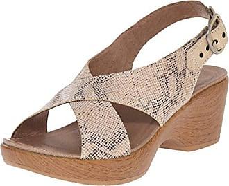 Dansko Womens Jacinda Taupe Snake Wedge Sandal, 40 EU/9.5-10 M US