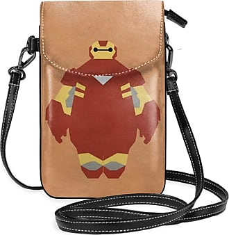 Not Applicable Clothing Small Crossbody Bags Cell Phone Purse Iron Man Baymax Print With Credit Card Slots