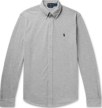 Polo Ralph Lauren Button-down Collar Cotton-piqué Shirt - Gray